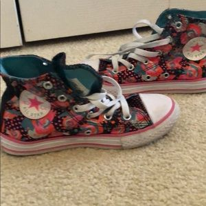 Kids Converse All Star Floral High Tops